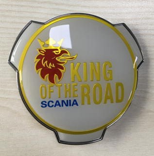 3D znak King of the Road WHITE